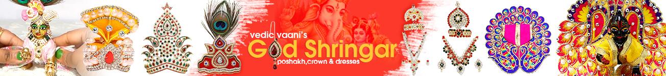God Shringar Poshakh, Crown & Dresses